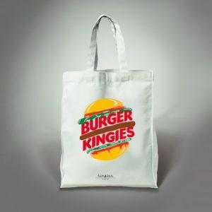 tote bag burger kingies