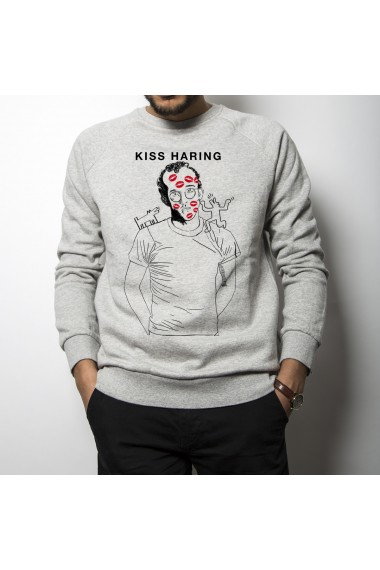 sweat shirt kiss haring