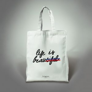 tote bag life is beautiful kingies
