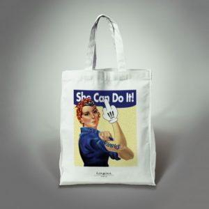 tote bag she can do it kingies